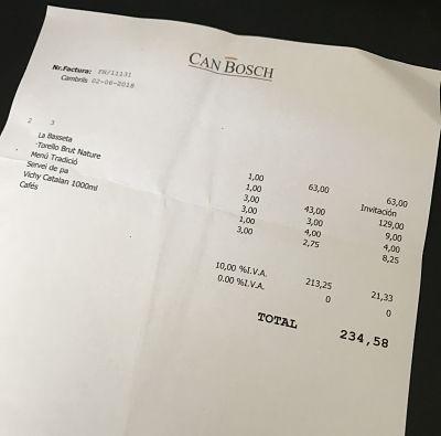 Can Bosch Cambrils-tiquet