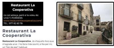 Restaurants Sud de Catalunya La Cooperativa