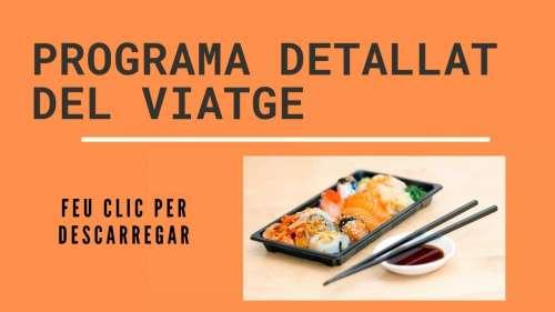 Viatge gastronòmic al Japó programa