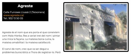 Restaurants BCN 2020 Agreste
