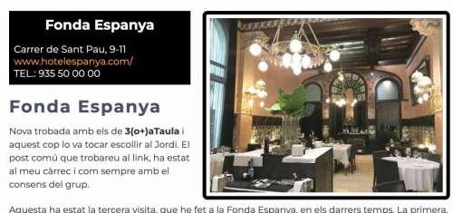 Restaurants BCN 2020 Fonda Espanya