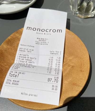 monocrom tiquet